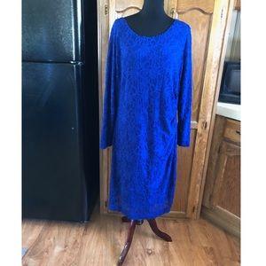 Ralph Lauren Blue Lace Dress Size 20W